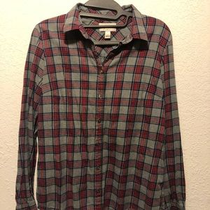 Plaid J Crew top, size 6